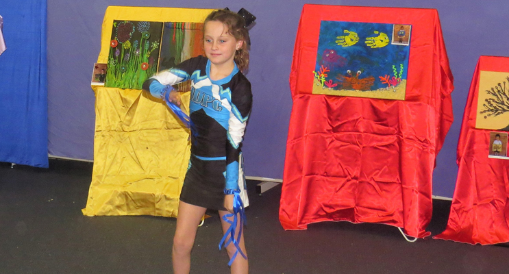 Performing Arts: Amarli Watson entertained the crowd with a gymnastics routine.
