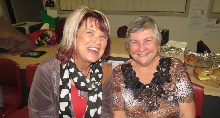 Valerie Guido and Maureen Matheson were impressed with the talents on show.