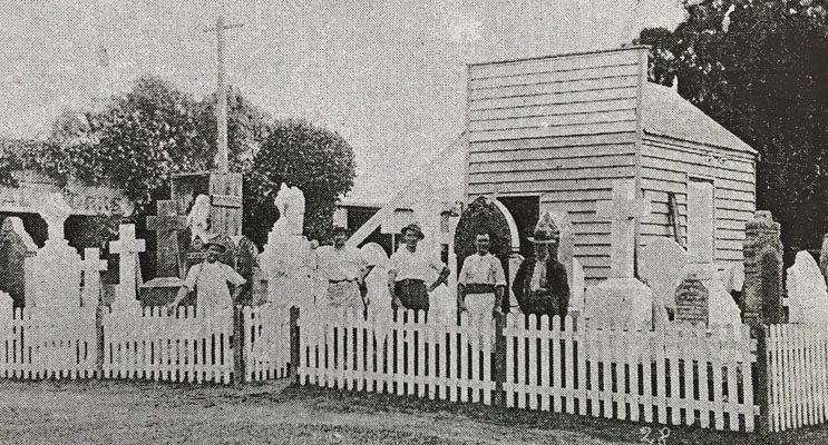 The old Edstein Monumental Masons in Williams Street, Raymond Terrace, the original site of the Lakeside homestead.