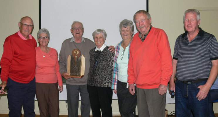 TRIVIA WINNERS: John Slater, Lily Smith, John and Jo Younghusband, Anne and Geoff Fowler, Keith Smith.