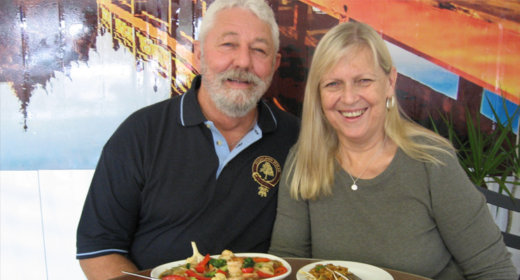 The McTacketts at Tilly Thai restaurant.