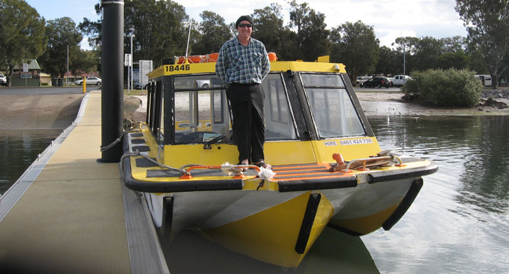 Al Donnelly with his Koala Ferry.