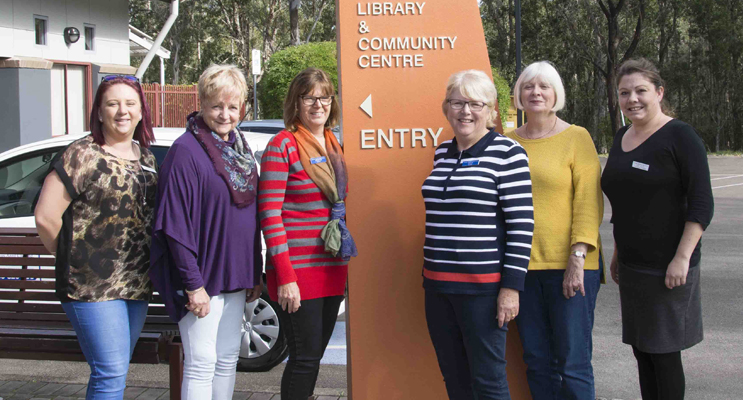 Staff and volunteers at Tomaree Neighbourhood Centre. Photo by Mandy Ellis