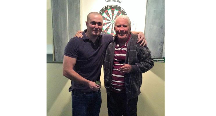 Weekly Darts Winners, Paul Bennett and Geoff Smith.