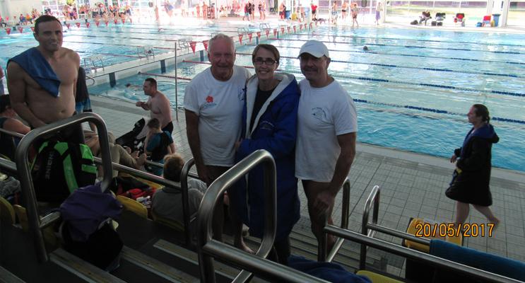 MYALL MASTERS: Chris Lock, Christine Sefton and Brad Jensen.