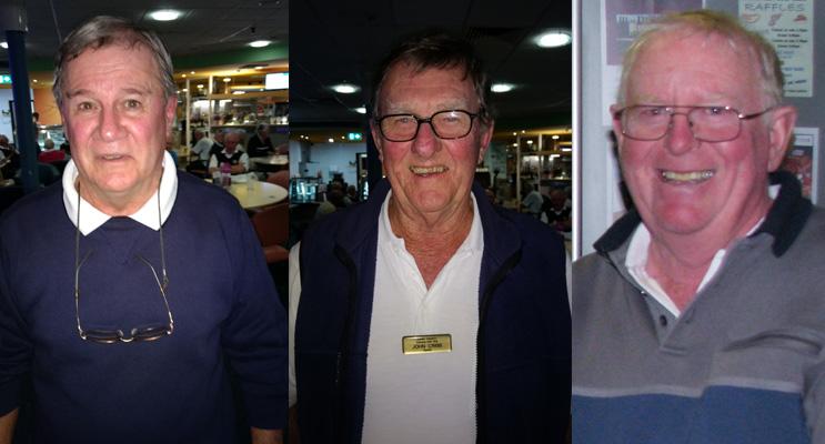 A Grade winner Terry Richardson of Forster-Tuncurry.(left) B Grade winner John Cribb of Forster-Tuncurry.(center) C Grade winner Kevin Durham of Hawks Nest. (right)