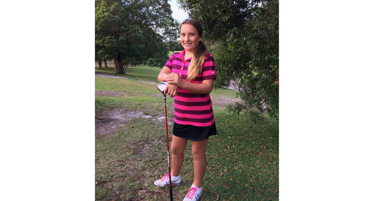 Amy Squires wins her division at Nelson Bay Golf Club.