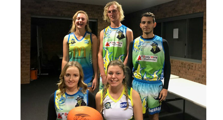 Hanna Robinson, Marley Robinson, Alexander Napoli, Briennen Carter and Taylah Smith will represent Port Stephens and Australia in Ireland.
