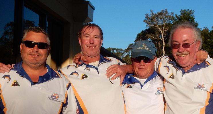 Winners of the Club Championship Fours Final: Paul Syron, Jeff Baker, Sean Mearrick and Richard Lee.