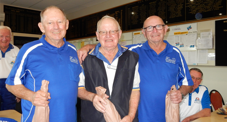 Winners of the East Maitland Visitation Day, Barry Lynch, Pip Sullivan and Denis Kerr,