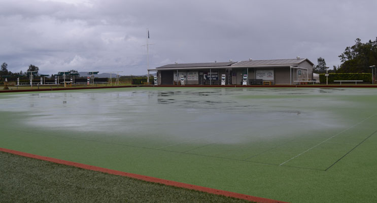 The waterlogged Green.
