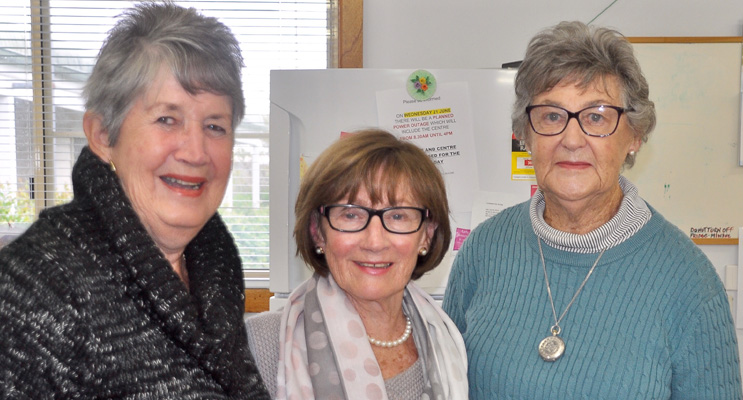 Margot Case, Wilma Drake and Helen O'Brien.