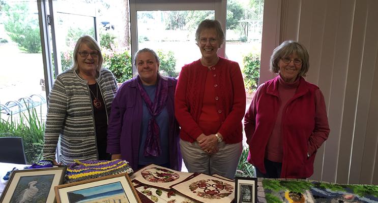 ArtyCrafty members: Marja-Leena, Ruth White, Margaret Hannan and Margaret Thomas.