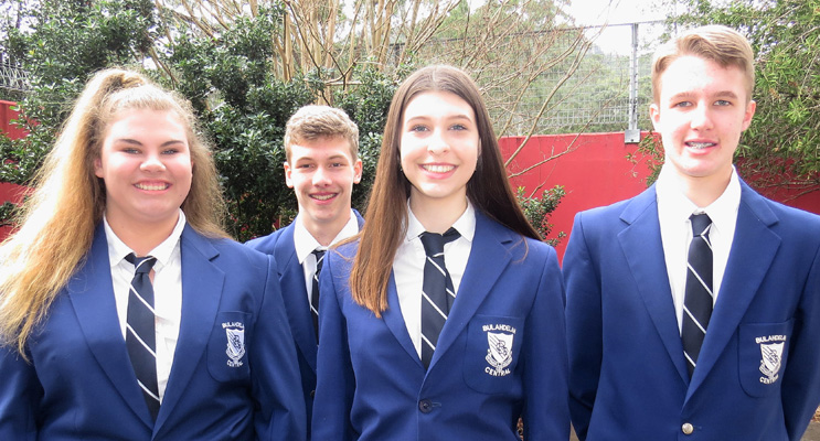 Vice Captains Katie Nolan and Zac Fletcher with Captains Maddison Boyd and Luke Rochester.