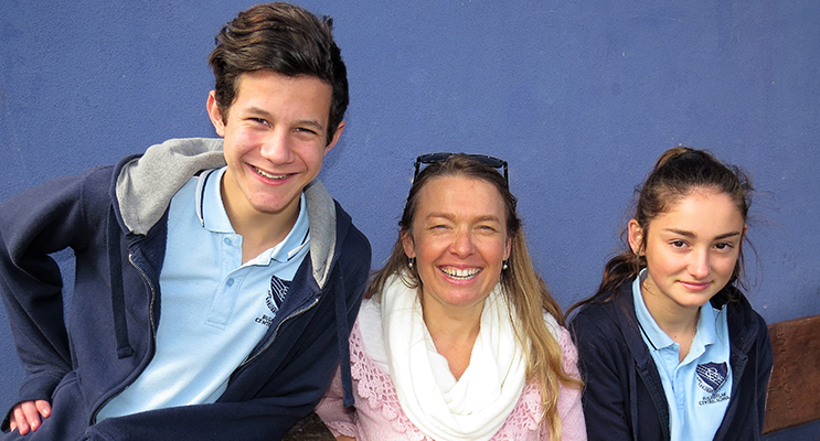 Year 9 SRC representatives Hunter Bramble and Katerina Poniris with Ms Georgina Cunich.