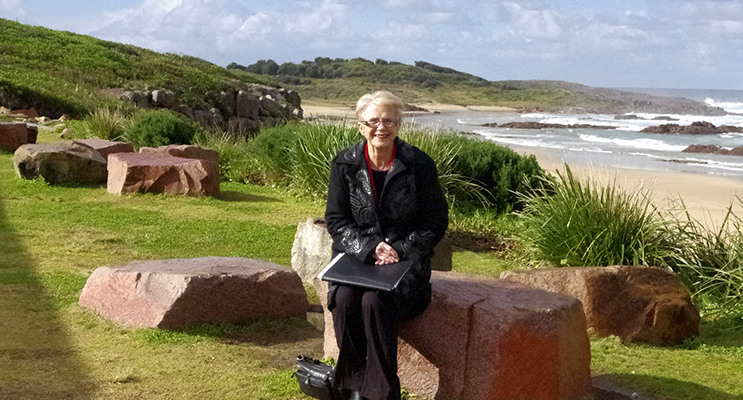 Councillor Sally Dover who sits on the committee that has developed the plan for Birubi Point.  Photo by Marian Sampson