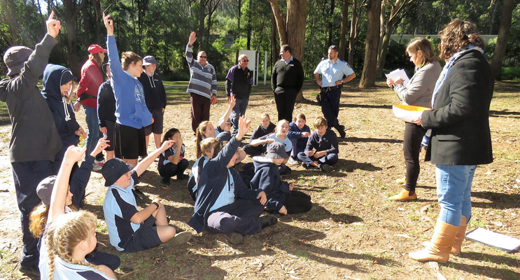 Students met in the Mountain Park to share their ideas for the new skate park.