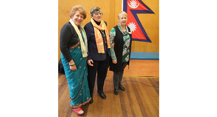 Dawn Patterson, CWA Vice President Medowie Branch and International Officer; June Fuller, CWA President Medowie Branch; and Ruth Shanks, World President, Association of Country Women of the World.