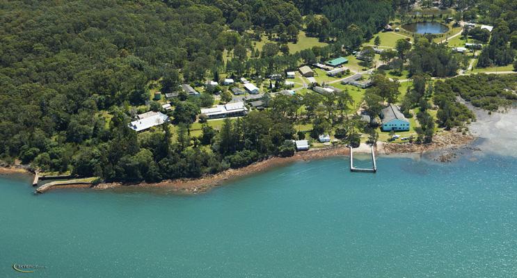 Aerial view of Tahlee.