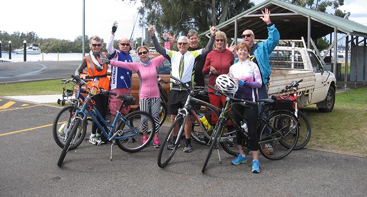 The Champagne Bike Riders.