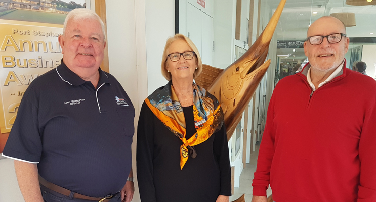 John Warburton, Lynn Vatner and John Weaver.