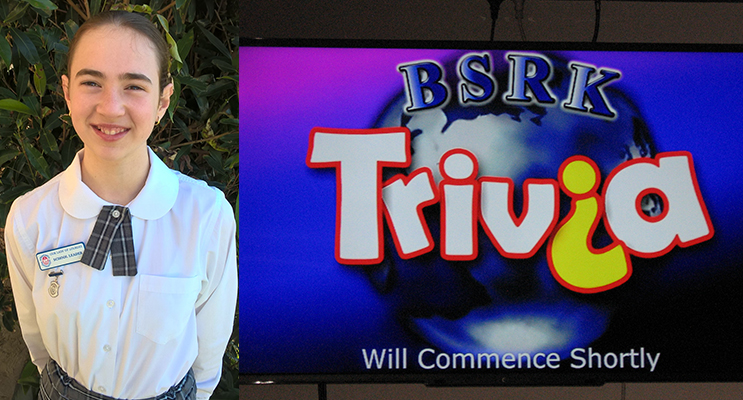 Erika West saved the day for her team.(left) Club Lemon Tree's Trivia logo.    (right)
