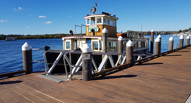 NEWS Ferry Anger MT PY1 - Ferry Tea Gardens To Nelson Bay