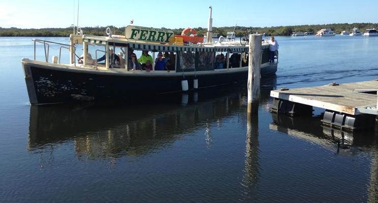 TEA GARDENS: Port Stephens Ferry Service.
