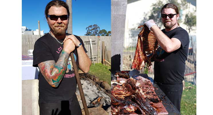 FIRE PIT BARBECUE: Chef Josh Burke.