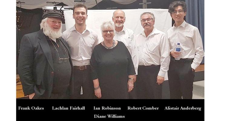 Frank Oates, Lachlan Fairhall, Diane Williams, Ian Robinson, Robert Comber, Alistair Andenberg.