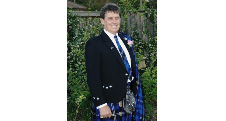 Ron Swan in his Scottish attire. From the Swan Family archives
