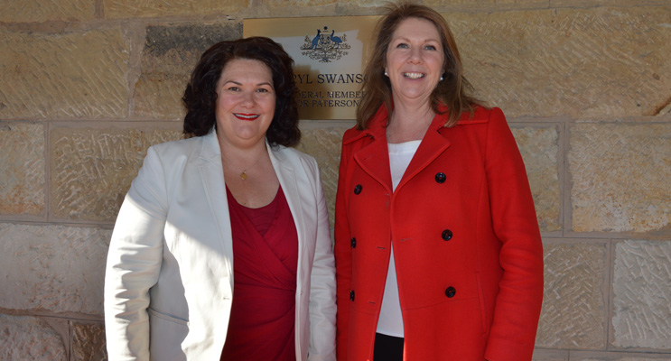 Meryl Swanson, Member for Paterson, shows Catherine King, Shadow Minister for Health, around the Paterson electorate.