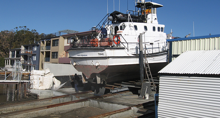 High and Dry – the 'Danial Thane' at the Albatross Marina