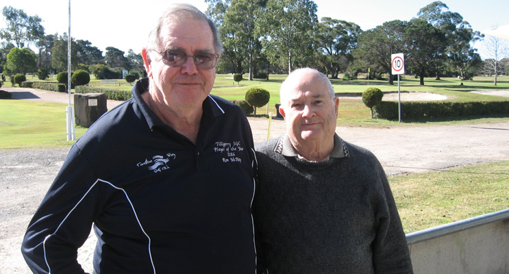 """Social club president Ron McKay and Treasurer Peter Hill: """"Come and join us."""""""