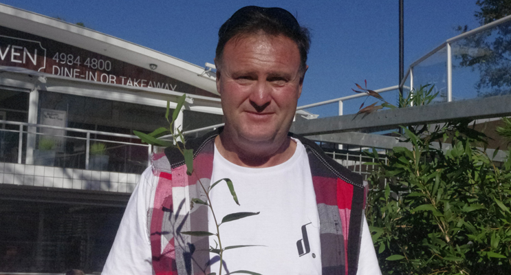 Lee McElroy, Vegetation Manager at Port Stephens, was giving away koala feed tree tube stock propagated at Ngioka Centre at Little Beach.