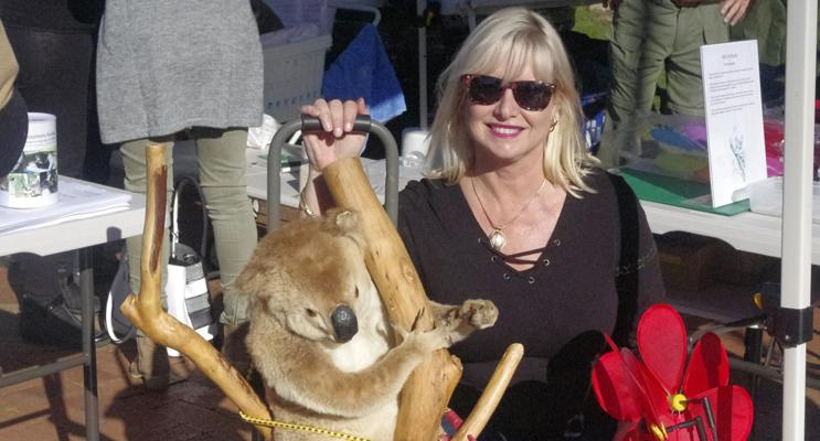 Anita Marshall fundraising for Port Stephens Koalas at Koala Gala.