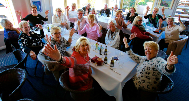 TEA GARDENS HOTEL: Livin' the Life at the 'Over 60s' lunch.
