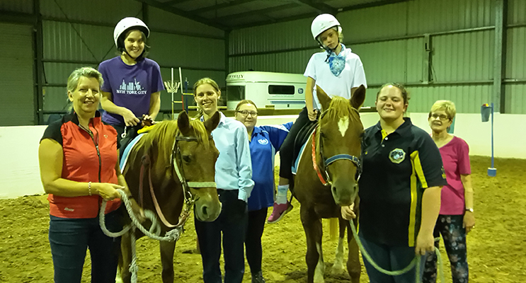 RDA riders and volunteers. Photo by Janet Hudson