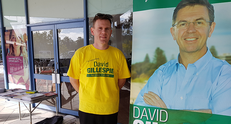 MOBILE OFFICE IN TEA GARDENS: Electoral Officer Brendan Seed.