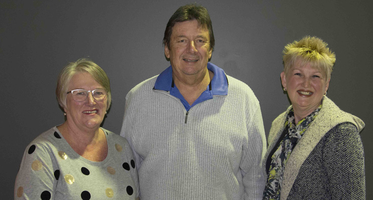 Jill Long, Port Stephens Palliative Care Outreach, Iain Woodhill, Tomaree Prostate Cancer Support Group, Cathy Turner, Port Stephens Women's Cancer Support Group.  Photo by Mandy Ellis