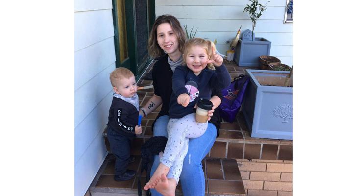 Jess with her children – Sara and Josef.