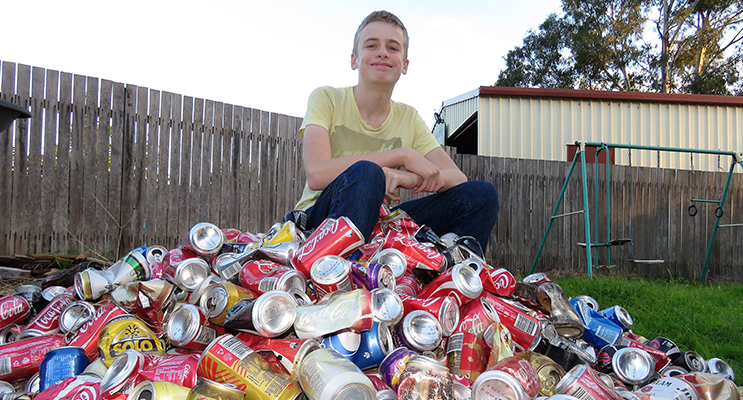 Jack Cunich is looking forward to the container deposit scheme.