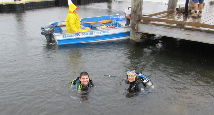RIVER DIVERS: Ryan Neave and Suzanne Fieberg.