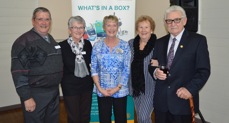 The Fern Bay crew: Alan and Robyn Boyes, Sharon Chambers, Doreen and Steve Carroll.