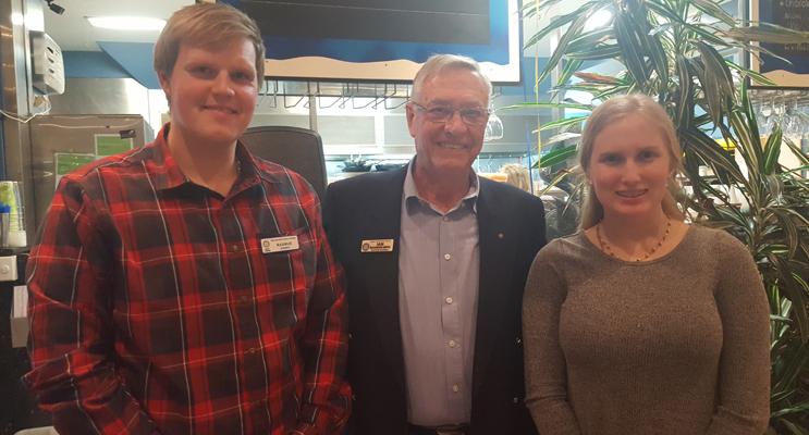 ROTARY YOUTH: Rasmus Sandholm, Ian Mackenzie-Smith, Abigail Hall.