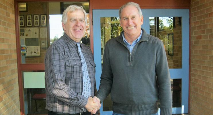 BCS Principal Don Hudson farewells Mr Wayne Holt.