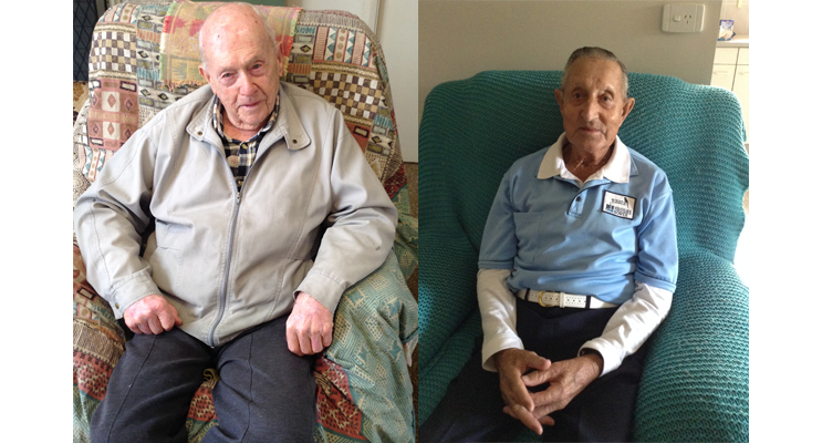 Laurie Gordon, aged 94, is a member of the Nelson Bay Diggers Bowls and WWII veteran. Norm Glover, aged 93, is a member of Nelson Bay Diggers Bowls and WWII veteran. (left) Laurie and Norm were unfortunately unable to attend the outing.(right)