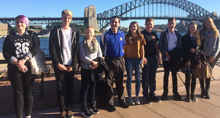 Mahalia, Corey, Renae, Adrian, Shannon, Dylan, Lincoln, Nakita, Sarah of the Port Stephens YAP attending the Speak Up youth event in Sydney.