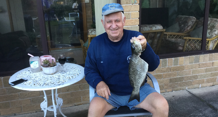 Ron Gunness with his catch.