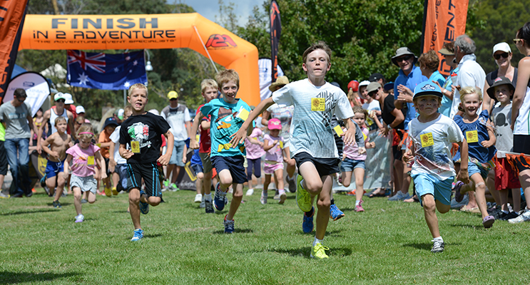 Mud Runners race at an In2Adventure event.